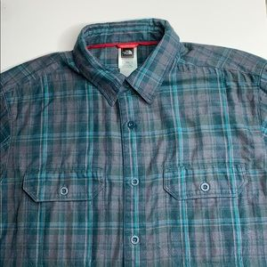 The North Face flannel long sleeve button shirt